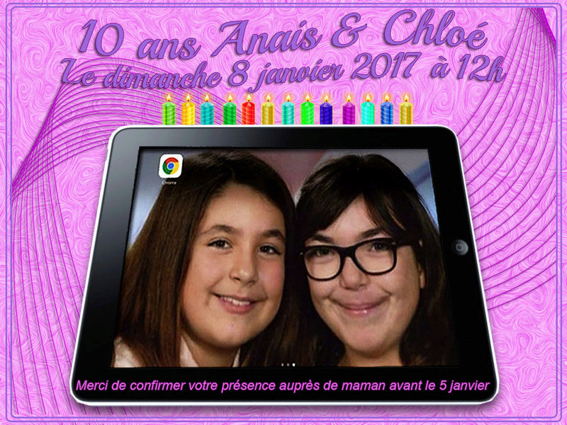 invitation anniversaire 10 ans Ipad10