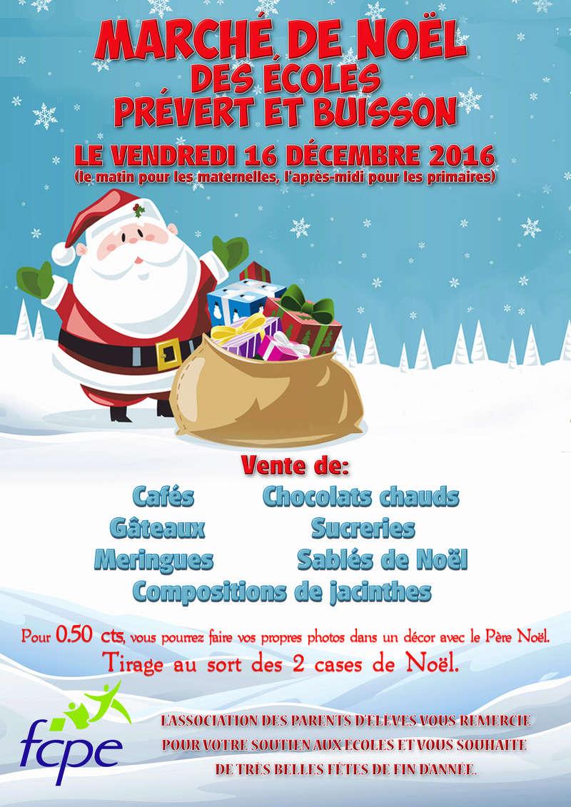 Affiche marché de Noël des parents d'élèves Marchy11