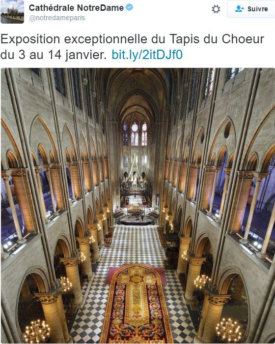 Notre-Dame de Paris. Exposition « Tapis du choeur » 016
