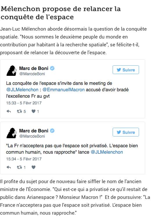 Jean-Luc Mélenchon et la conquête spatiale. Melenc10
