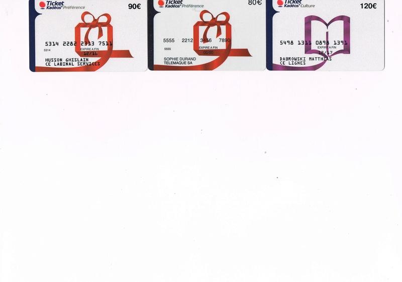 Ticket Kadéos MasterCard Ticket10