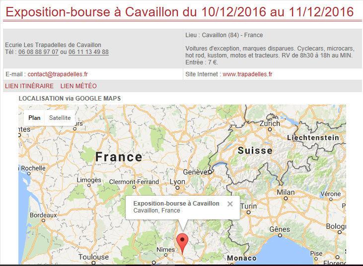 [84] 10-11/12/2016  Exposition bourse de Cavaillon Cavail10