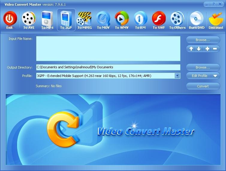 Video Convert Master pour convertir vos videos a quel format que vous voullez 20080710