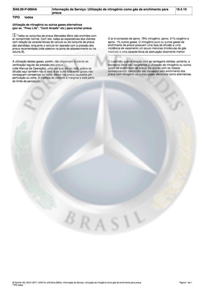 (Informação de Serviço): Utilização de nitrogênio como gás de enchimento para pneus Md_inf10