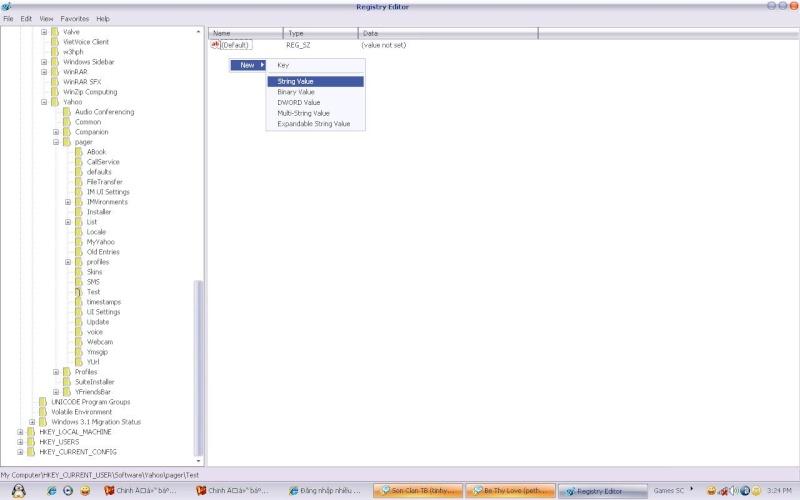 Đăng nhập nhiều Account Yahoo Messenger không cần dùng tool Ym031110