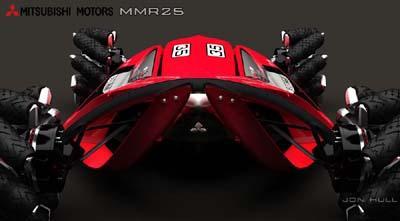 Mitsubishi revela carro de competição do futuro Mitsu210