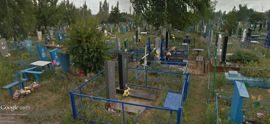 Cimetière sous Street View à Donetsk, Ukraine A108