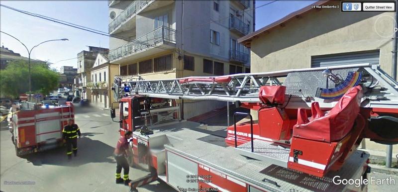 STREET VIEW : à la recherche des interventions de pompiers A127