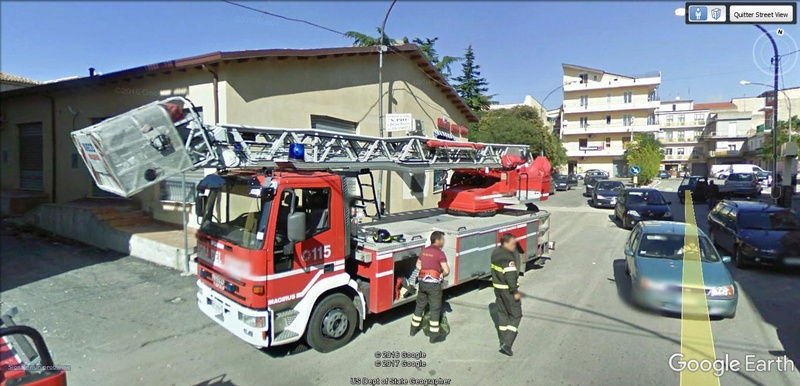 STREET VIEW : à la recherche des interventions de pompiers A310