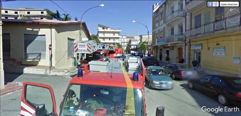 STREET VIEW : à la recherche des interventions de pompiers A410