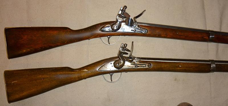 Tromblon et fusil à silex inconnus P1010311