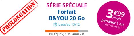 Nouvelle prolongation de la Série spéciale 20Go à 3,99€ chez Bouygues Telecom  14814410