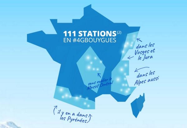 Bouygues Telecom offre une carte sim de 10Go pour tester sa 4G au sport d'hiver 4gresc10