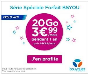"""Bouygues Telecom prolonge son offre """"Anti-Free"""" à 3,99€ pour 20 Go Butel310"""
