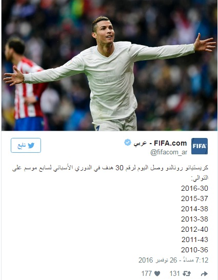 رونالدو يحقق رقما قياسيا جديدا مع ريال مدريد ! 10000010
