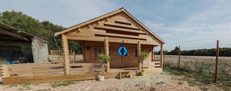 Chalet de jardin isolé 44+44mm 36m²+14m² RT2012 15400410