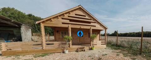 Chalet de jardin isolé 44+44mm 36m²+14m² RT2012