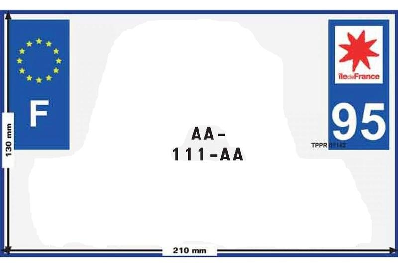 Gaffe aux plaques d'immatriculation. 1350-910