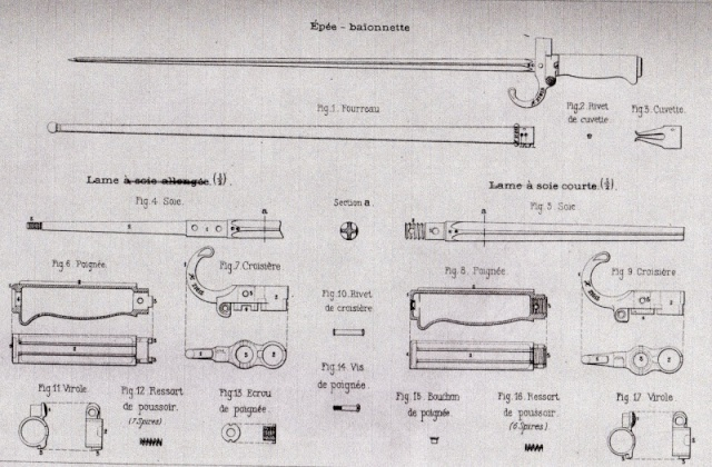 Baionette du Lebel Epee_b10