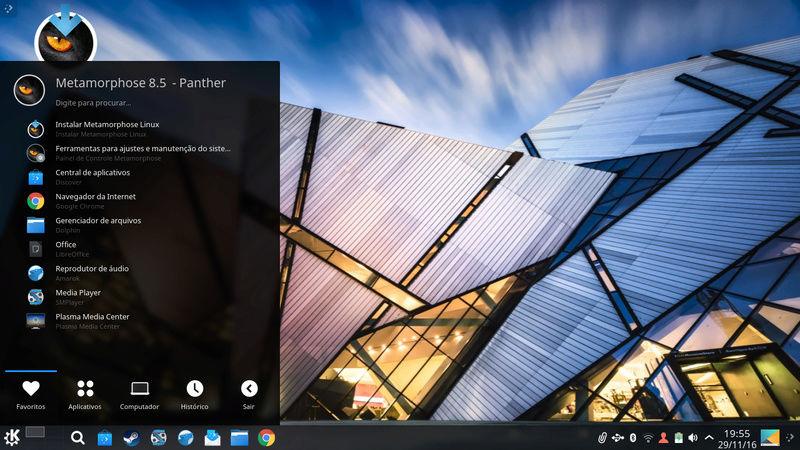 Lançamento Metamorphose 8.5.7 (Panther) Screen10