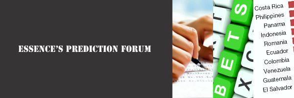 Essence's Prediction Forum