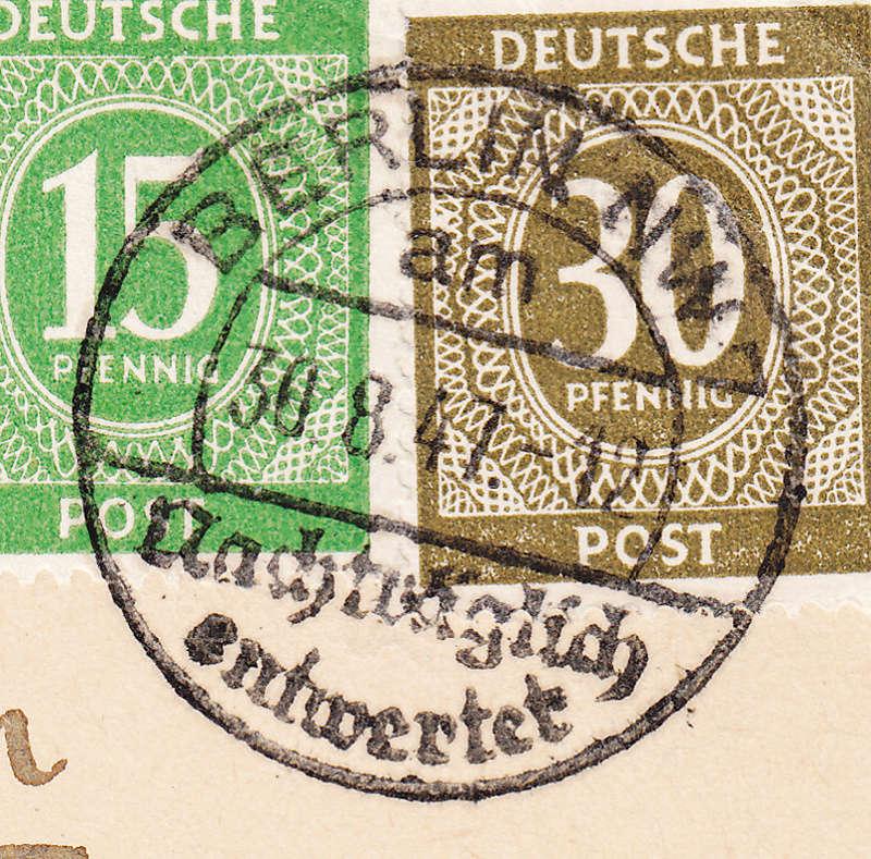 Nachträglich entwertet   -   Stempel aus Deutschland Img_0031