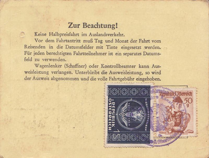 Postbedienstetenausweis zur Halbpreisfahrt - Ausweisgebühr Img_0036