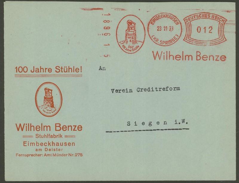 1945 - Freistempel / Absenderfreistempel Deutsches Reich (bis 1945) Eimbec10