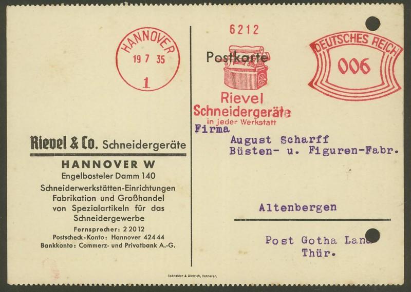1945 - Freistempel / Absenderfreistempel Deutsches Reich (bis 1945) Hannov10