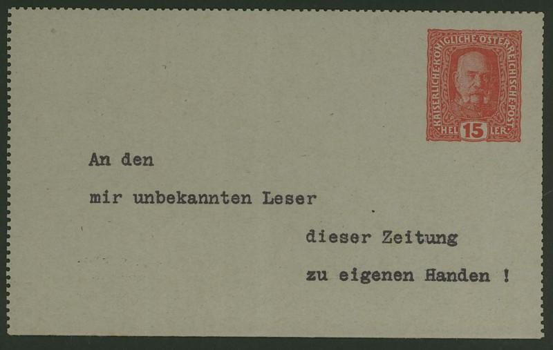 Amtliche Kartenbriefe mit privaten Textzudrucken K_49_w10
