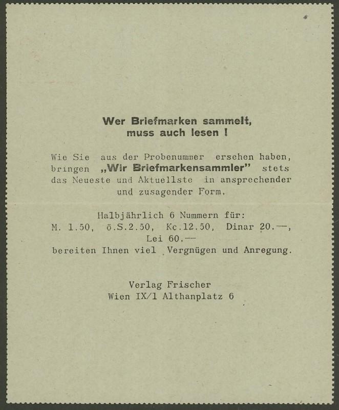 Amtliche Kartenbriefe mit privaten Textzudrucken K_49_w11