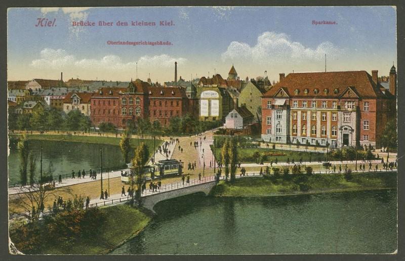 Alte Farbkarten deutscher Städte und Landschaften Kiel_x10