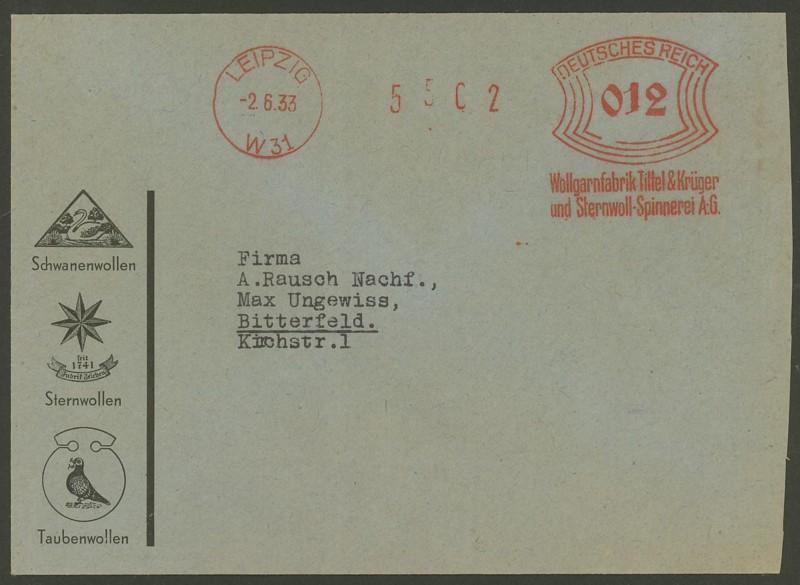1945 - Freistempel / Absenderfreistempel Deutsches Reich (bis 1945) Leipzi10