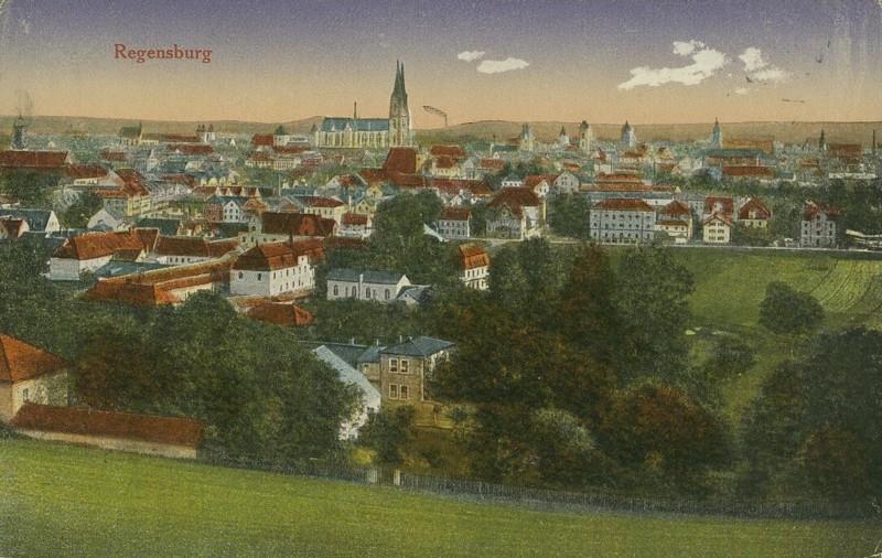 Alte Farbkarten deutscher Städte und Landschaften Regens10
