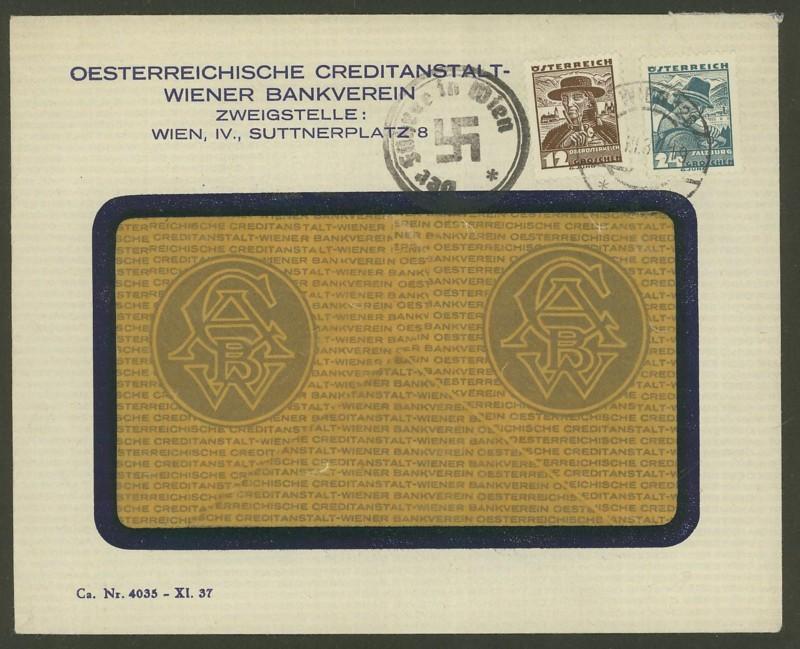 Briefe / Poststücke österreichischer Banken - Seite 2 Wien_110