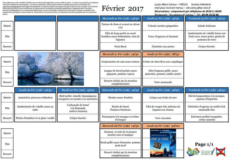 Les menus de Camus 20170211