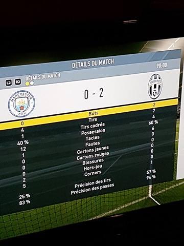 Manchester City 0 - 2 Juventus [Simulateur:André] Result10