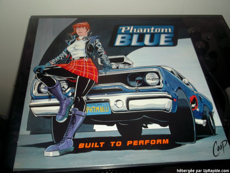 "Phantom blue "" built to perform "" 1993 Phanto11"