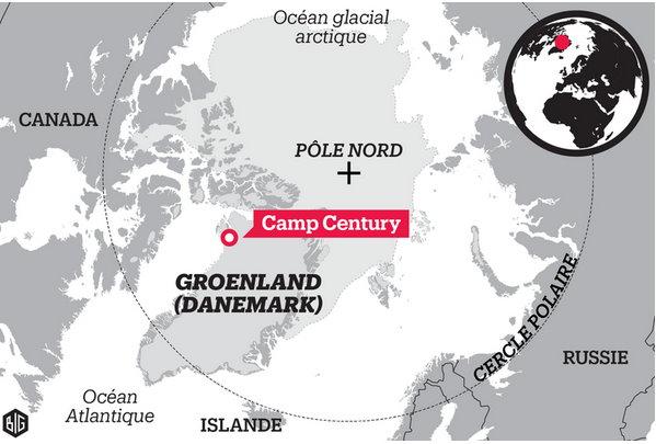 Au Groenland, une base secrète américaine mise au jour par la fonte des glaces?  Base_m11