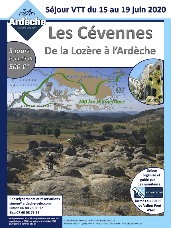 "Raid VTT 2020 ""Les Cévennes"" Ceaven10"