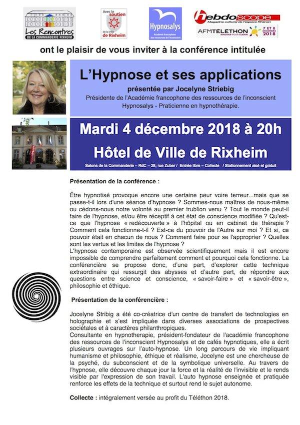 Rencontres de la Commanderie : L'Hypnose Invita12