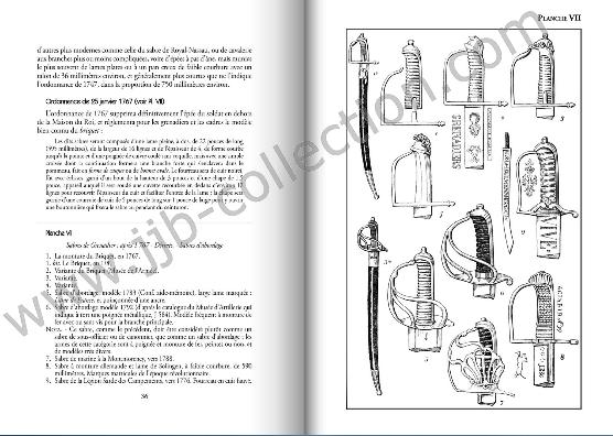 L'arme blanche de guerre française au XVIII° par Bottet. Copyri10