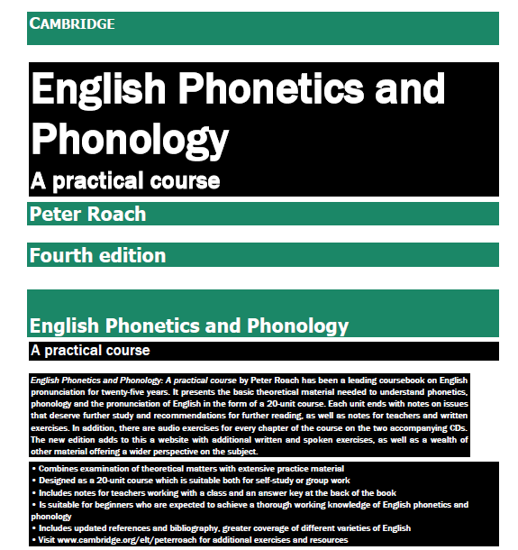 CAMBRIDGE English Phonetics and Phonology for Peter Roach 10