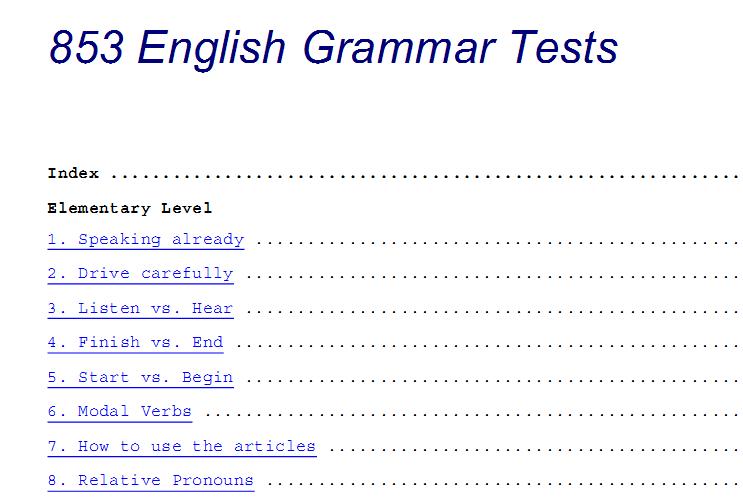 Download 853 English Grammar Tests 1110
