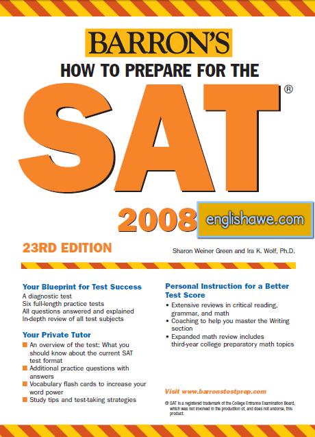 تحميل Barrons How to Prepare for the SAT 23th Edition 610