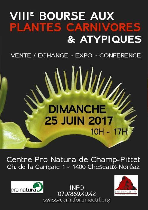8ème bourse aux plantes carnivores 25 juin 2017 Affich10