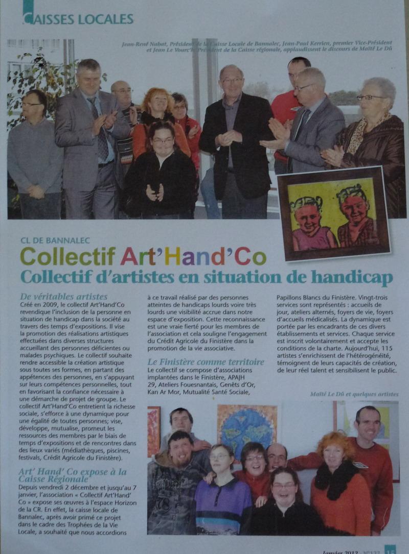 Nouvelle exposition à découvrir à l'espace Le Guyader tout l'été 2013: Art'Hand'Co P1020311