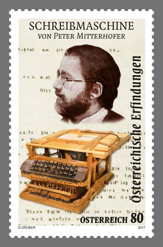 """Sondermarke """"Schreibmaschine – Peter Mitterhofer"""" 0222_s10"""