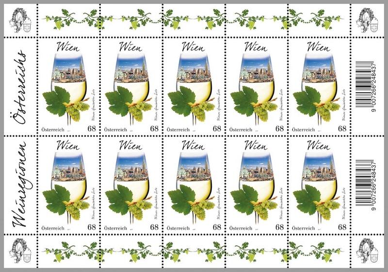"""Sondermarke """"Wien"""", Serie Weinregionen Österreichs 0315_w11"""