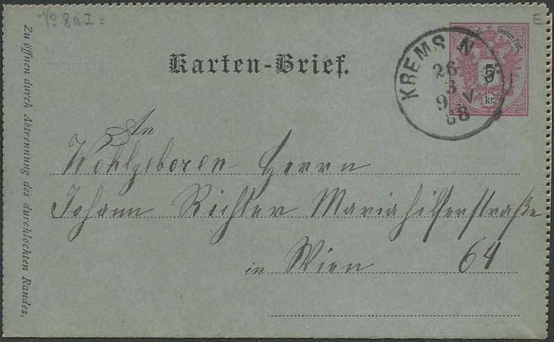 Kartenbriefe 18880310